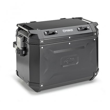 boční kufr K-FORCE - pravý, KAPPA (48l, černý hliník, 49,5x38,7x30,6 cm)