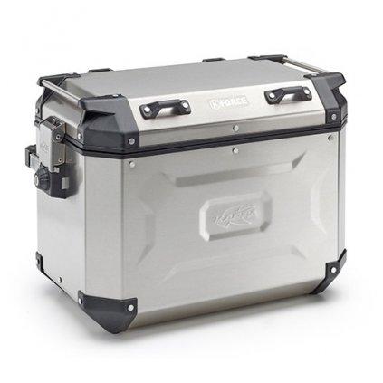 boční kufr K-FORCE - levý, KAPPA (48l, stříbrný hliník, 49,5x38,7x30,6 cm)