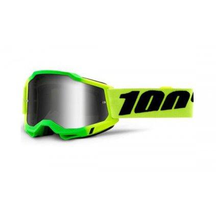 ACCURI 2 100% - USA , brýle Travis - zrcadlové stříbrné plexi