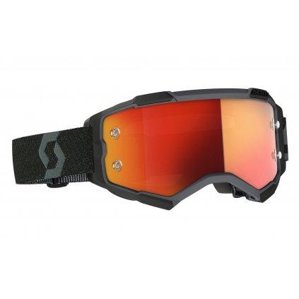 brýle FURY, SCOTT - USA (černá/ oranžová chrom plexi)