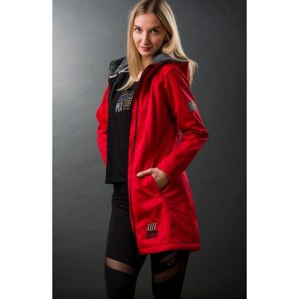 kabát BABE COAT 21, 101 RIDERS - ČR (červená)