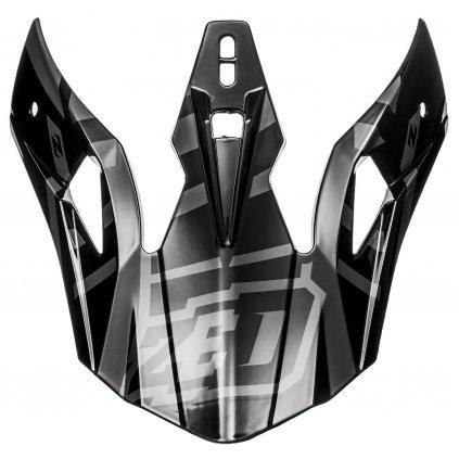 kšilt pro přilby X1.9 a X1.9D, ZED (černá/šedá)