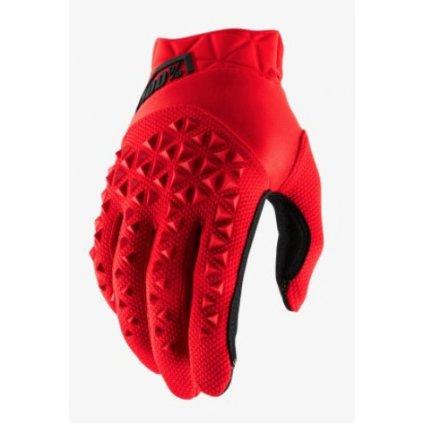 rukavice AIRMATIC, 100% dětské (červená/černá)