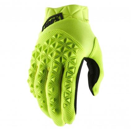 rukavice AIRMATIC, 100% dětské (žlutá/černá)