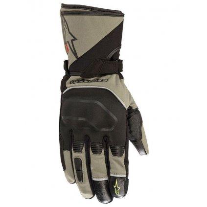 rukavice ANDES TOURING OUTDRY®, ALPINESTARS (tmavě zelené/černé)