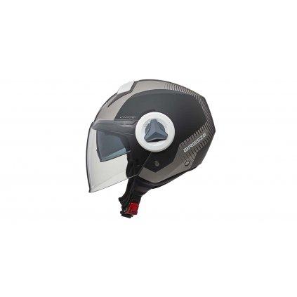 přilba Breeze Radar, V-Helmets (matná stříbrná)