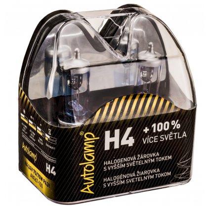 krabička AUTOLAMP H4 24V 75/70W P43t +100% E-homologace 2ks