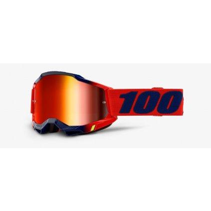 ACCURI 2 100% - USA , brýle Kearny - zrcadlové červené plexi