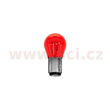žárovka 12V 21/5W (patice BAW15d) červená PHILIPS (Ford)