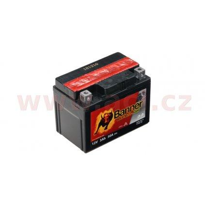 baterie 12V, YTX4 l-BS, 3Ah, 50A, BANNER Bike Bull AGM 114x71x86