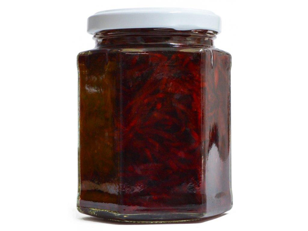 červená řepa s chilli