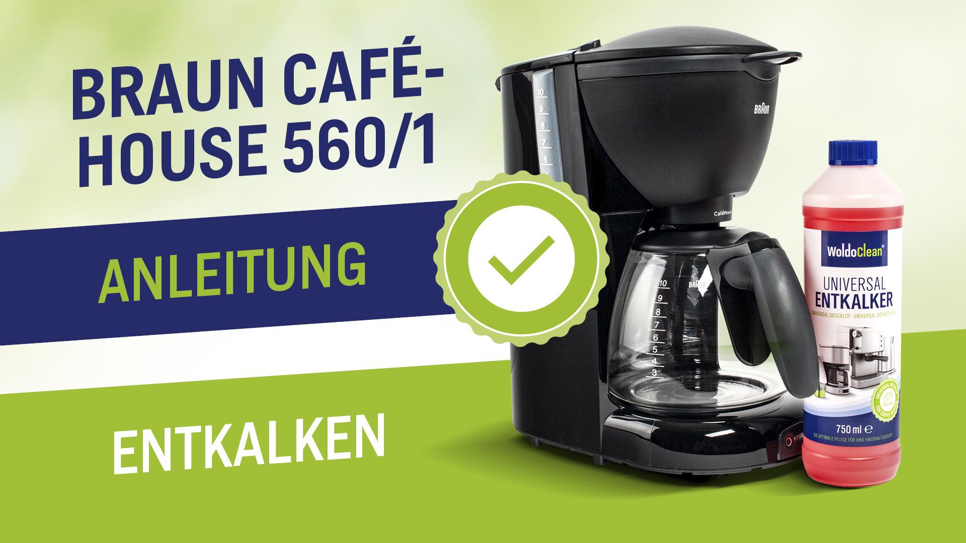 Odvápnění a čištění kávovaru Braun Cafehouse