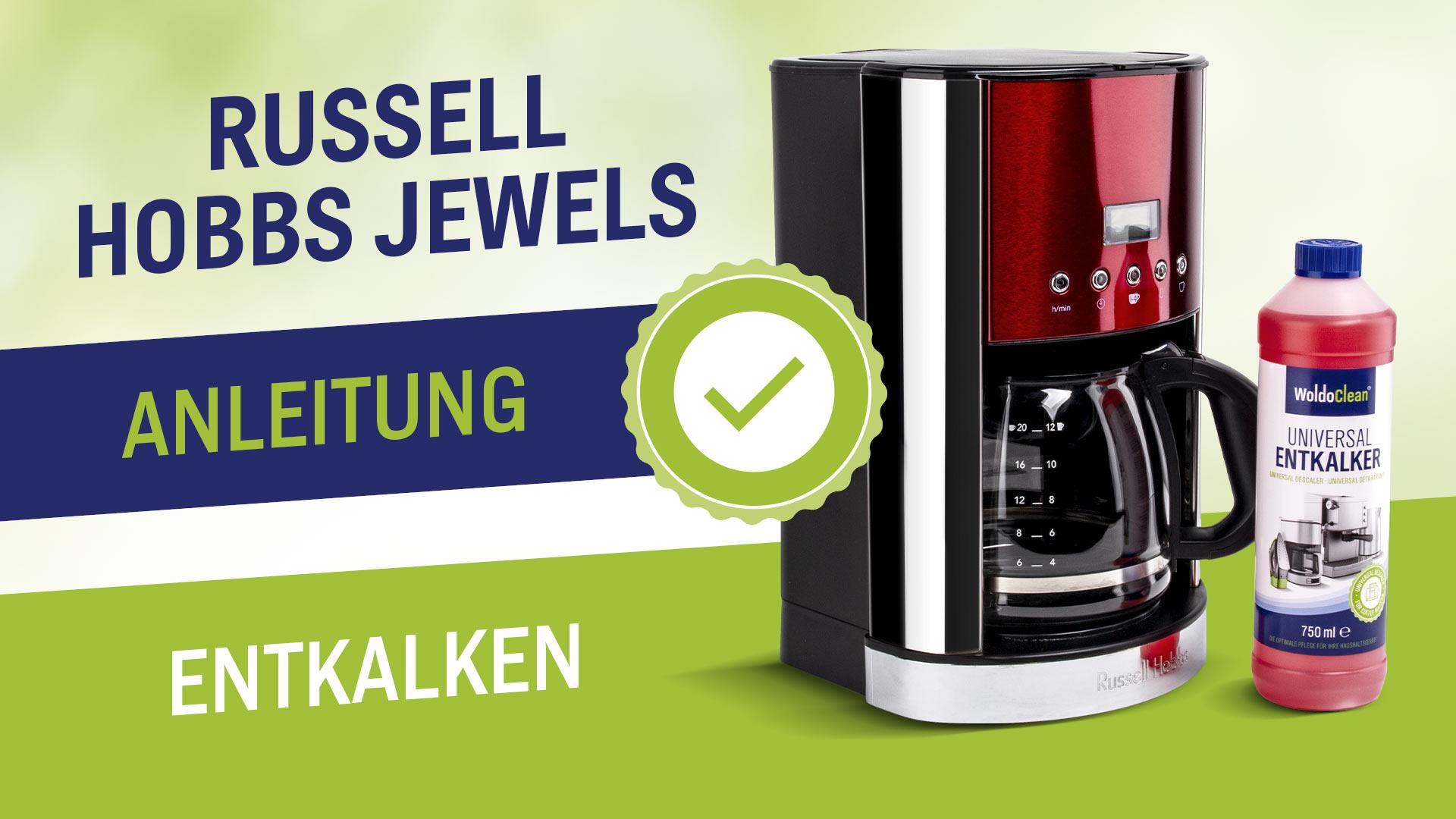 Odvápnění a čištění kávovaru Russell Hobbs Jewels
