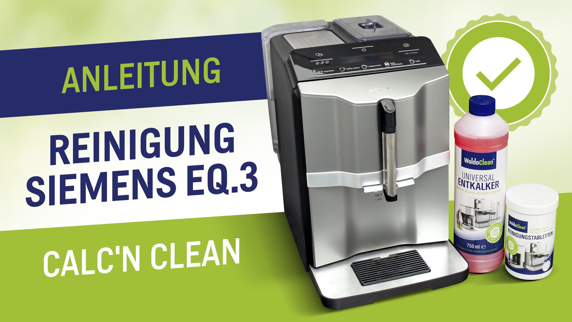 Vyčistěte a odvápněte automatický kávovar Siemens EQ3