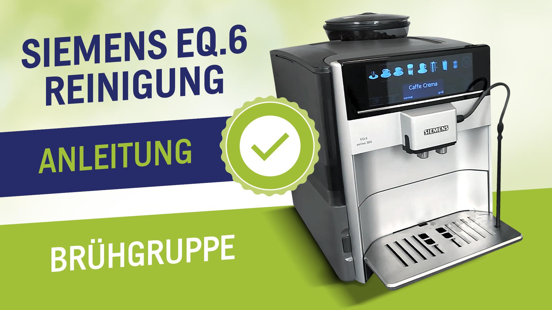 Vyčistěte plnoautomatický kávovar  EQ6 od společnosti Siemens