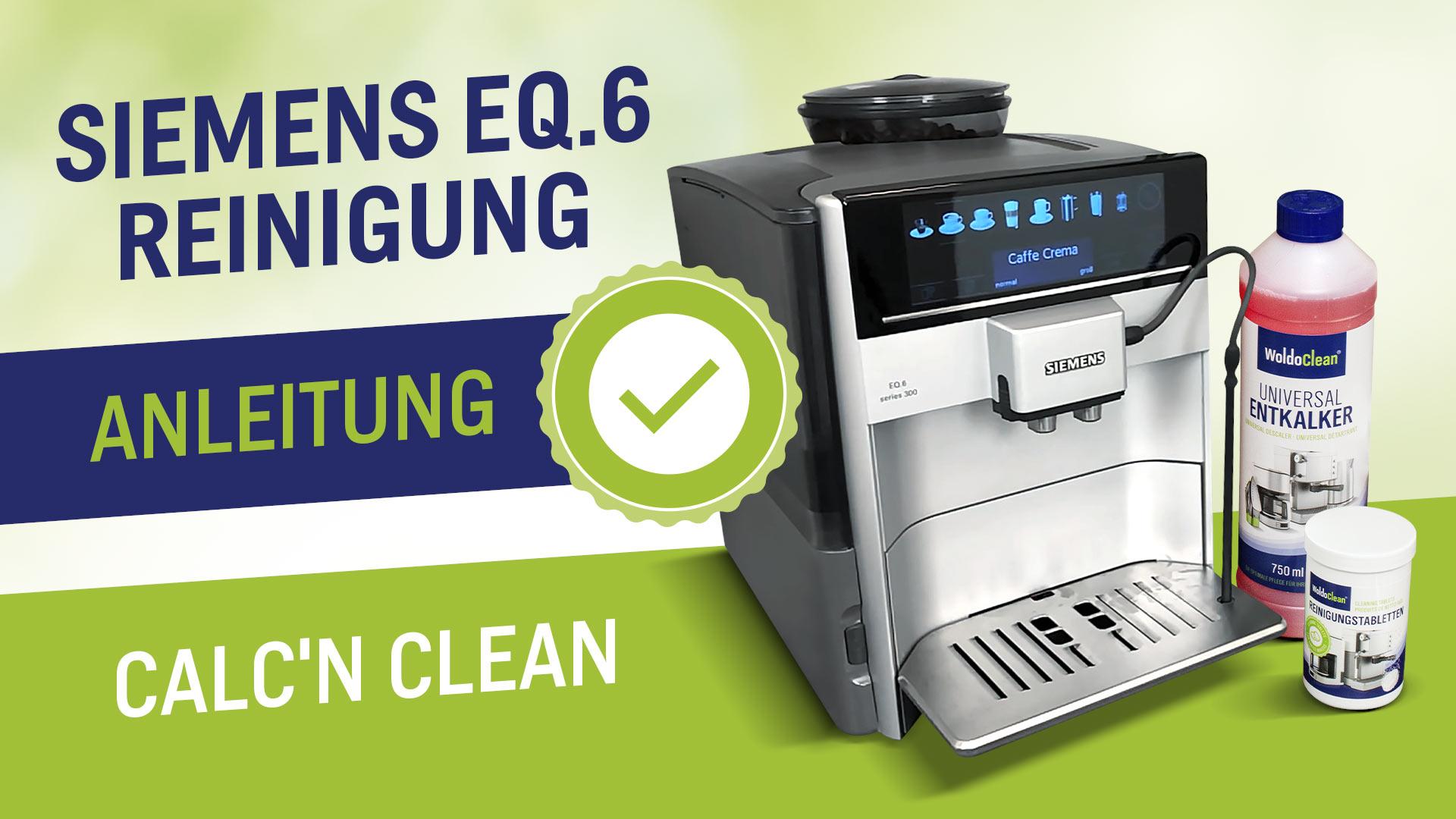 Siemens EQ 6 Čištění a odstraňování vodního kamene