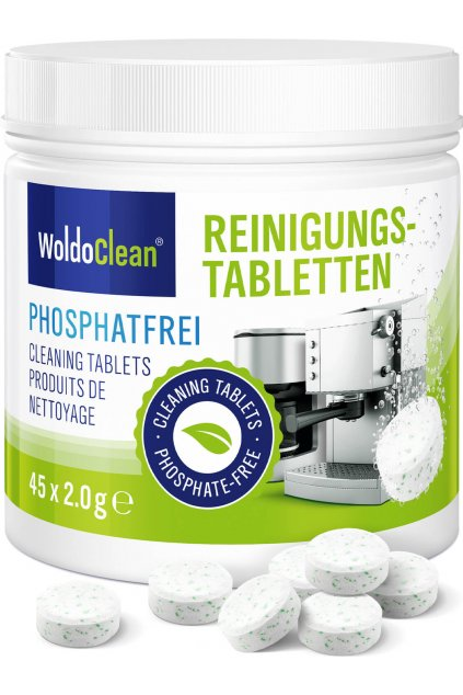 Čistící tablety do kávovaru bez fosfátů 45ks