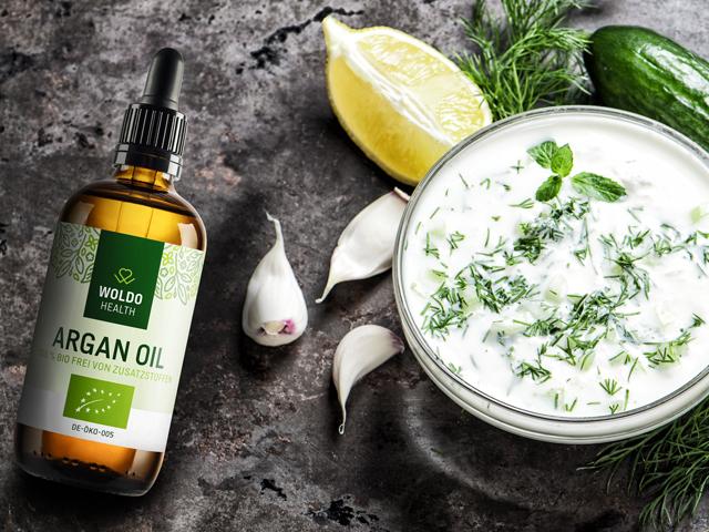 Arganový olej BIO lisovaný za studena pro pokožku obličej vlasy s certifikací ekologického zemědělství