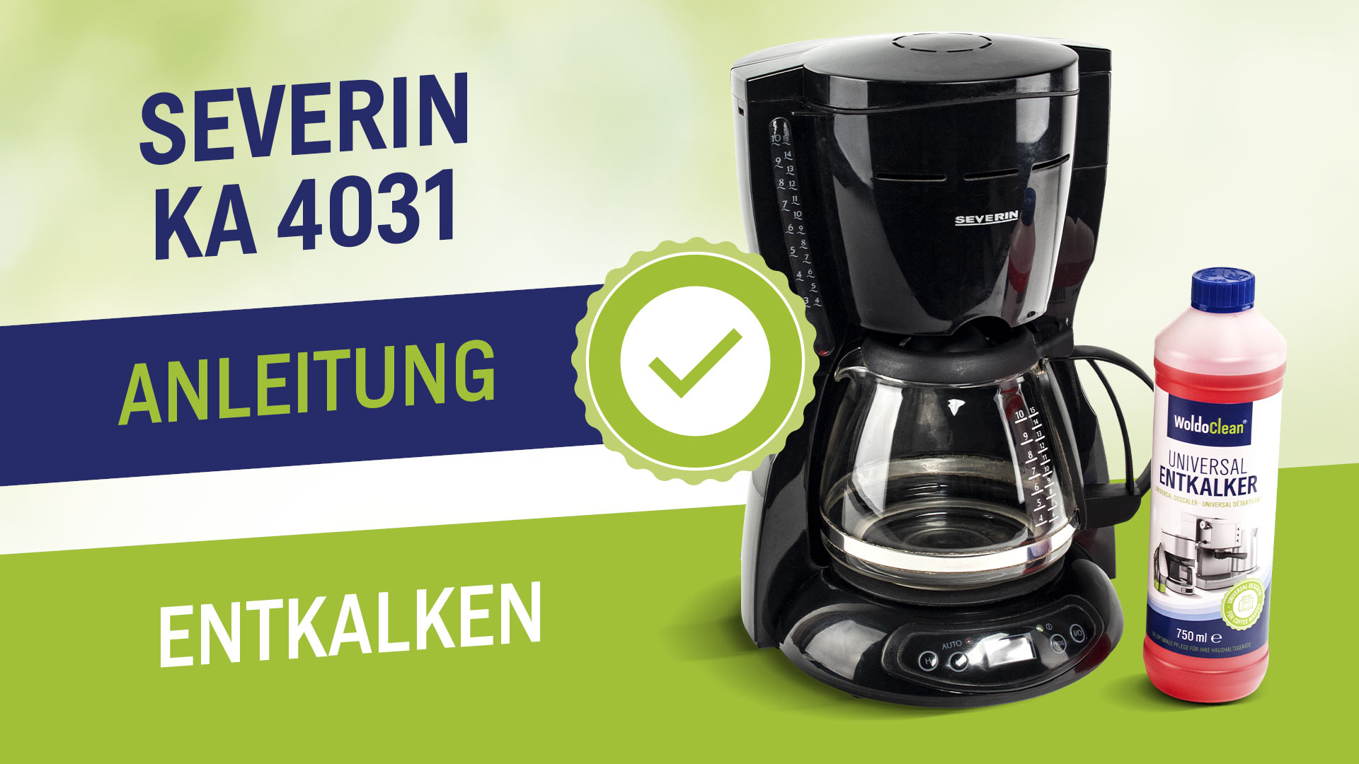 Odvápněte a vyčistěte kávovar Severin