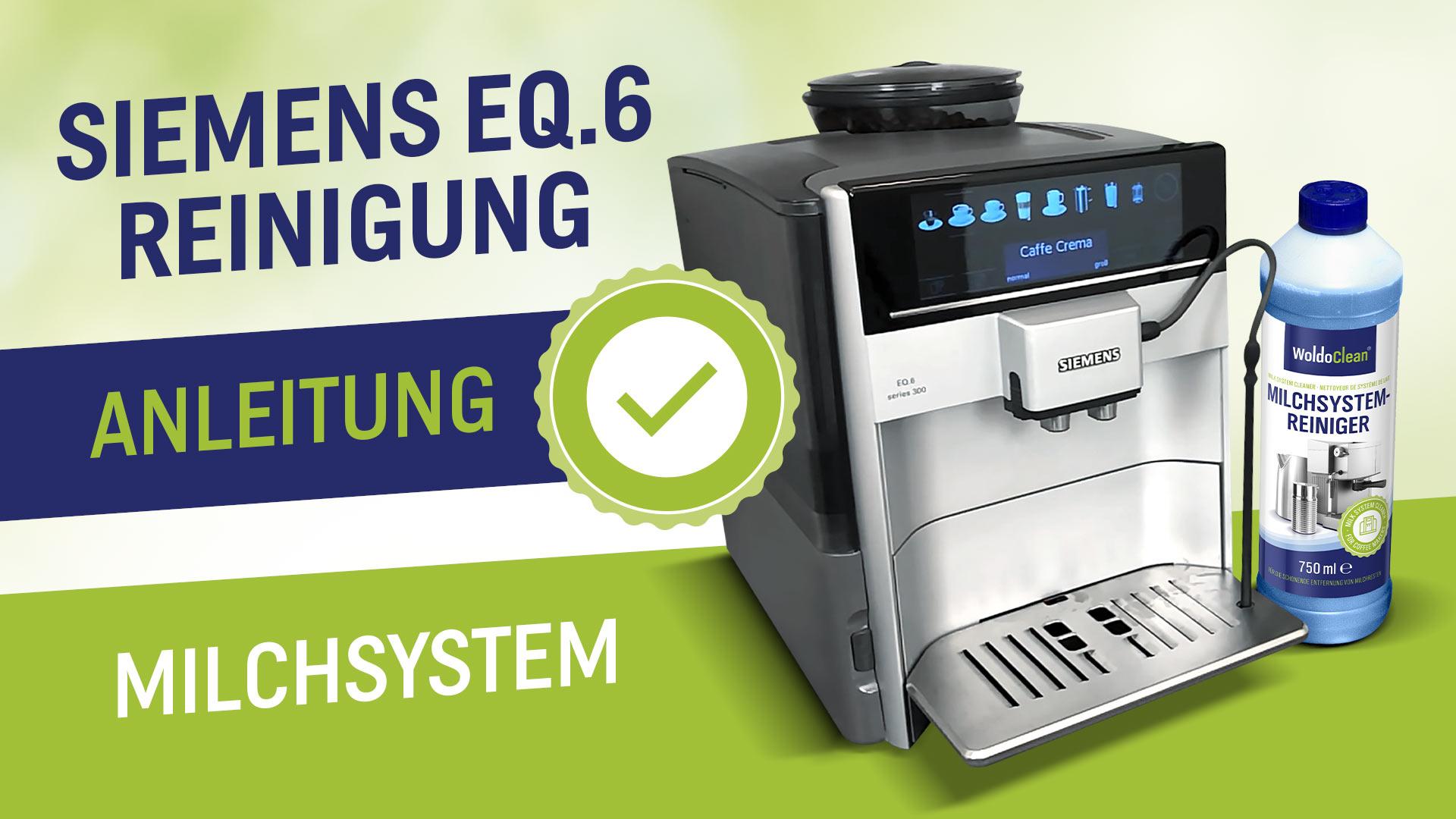 Jak správně čistit mléčné cesty u Siemens EQ6?