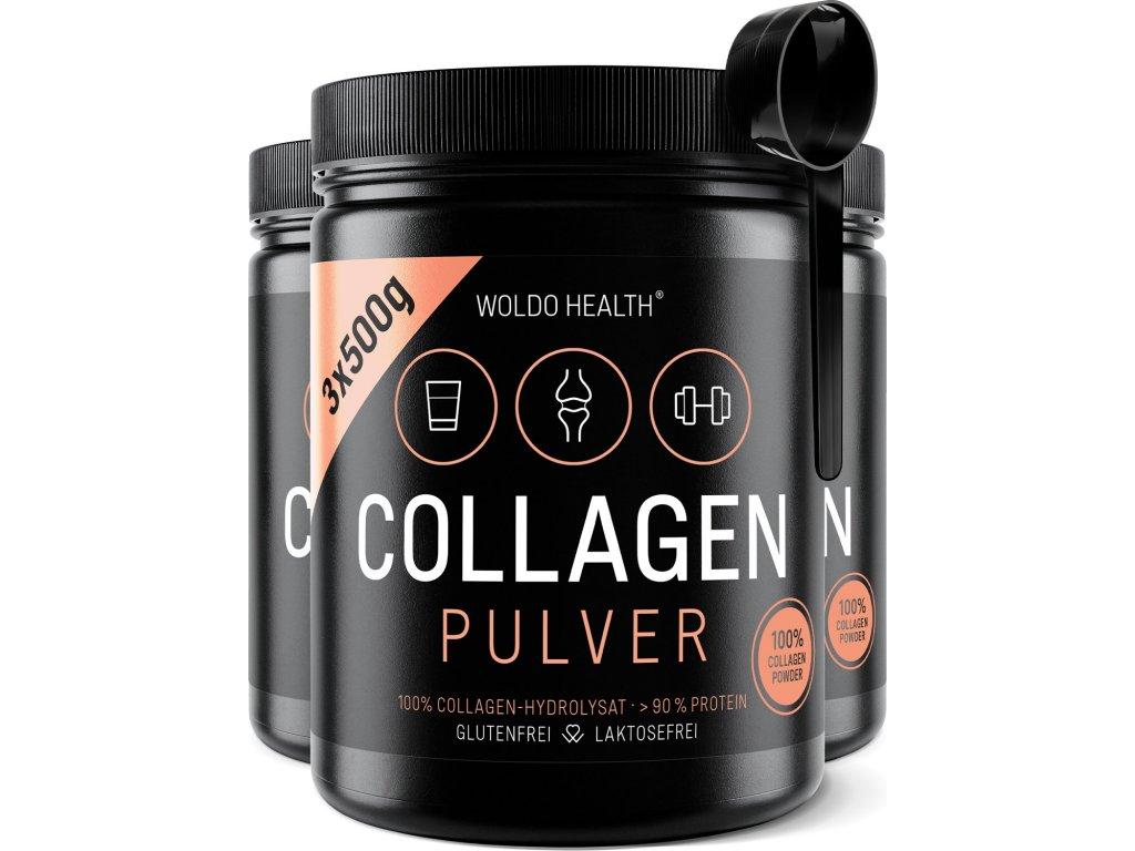 WoldoHealth Collagen Dose 500g 01 3er Loeffel