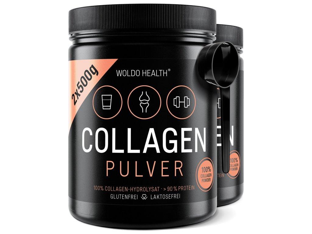 WoldoHealth Collagen Dose 500g 01 2er Loeffel