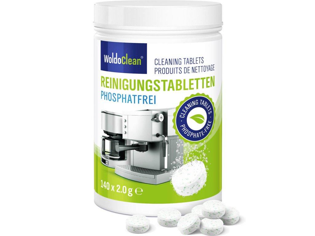 Čistící tablety do kávovaru bez fosfátů 140ks