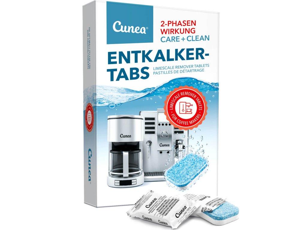 Odvapnovaci tablety pro kavovary a konvice dvoufazove tablety