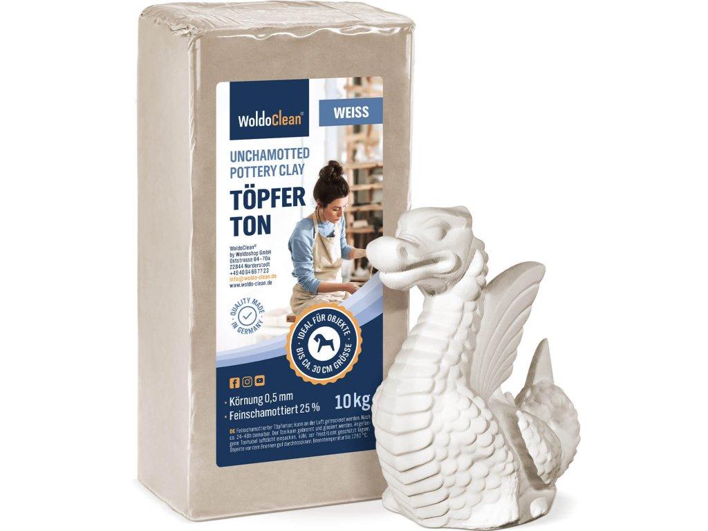WoldoClean Toepferton weiss 10kg 01 1er Skulptur