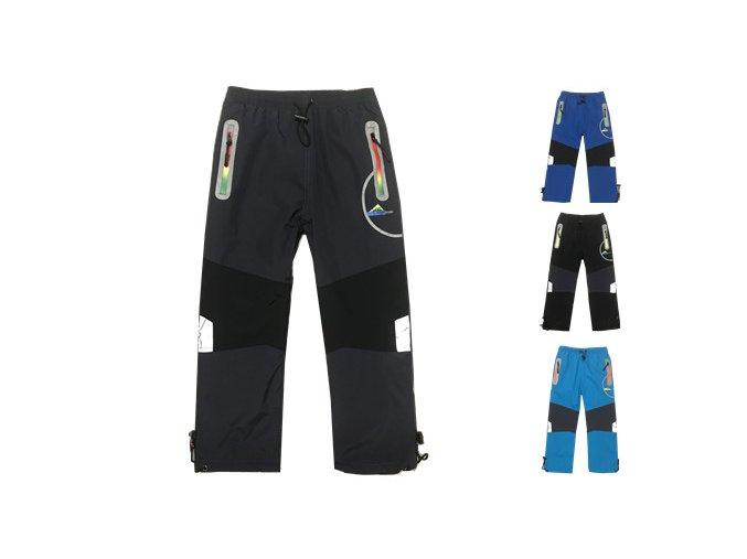 Kalhoty chlapecké šusťákové zateplené flísem (4barvy) KUGO