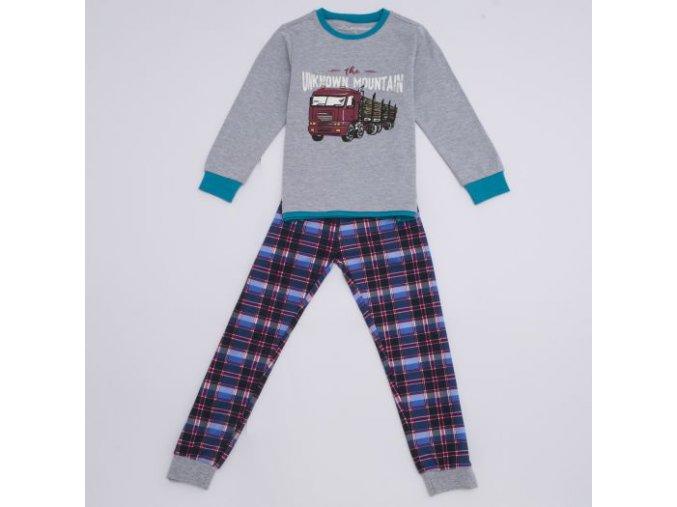 Pyžamo chlapecké teplejší (šedý melír) WOLF