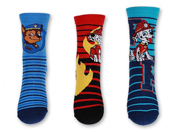Ponožky chlapecké PAW PATROL (3 barvy) SETINO