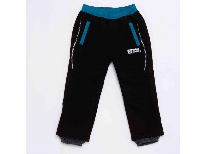 Kalhoty chlapecké softshellové podšité flísem (4 barvy) WOLF, VEL. 80-110