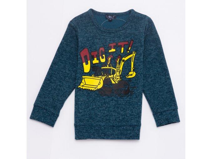 Tričko chlapecké dlouhý rukáv teplejší  (2 barvy) WOLF, VELIKOST 104-134