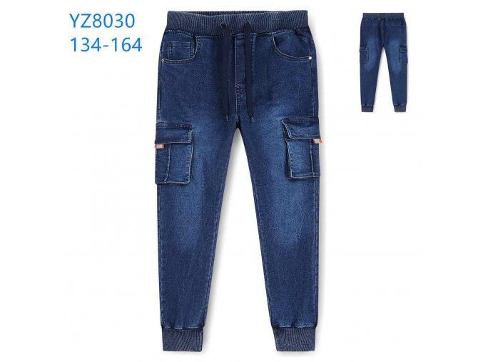Kalhoty chlapecké riflové (modré) KUGO,VELIKOST 134-164