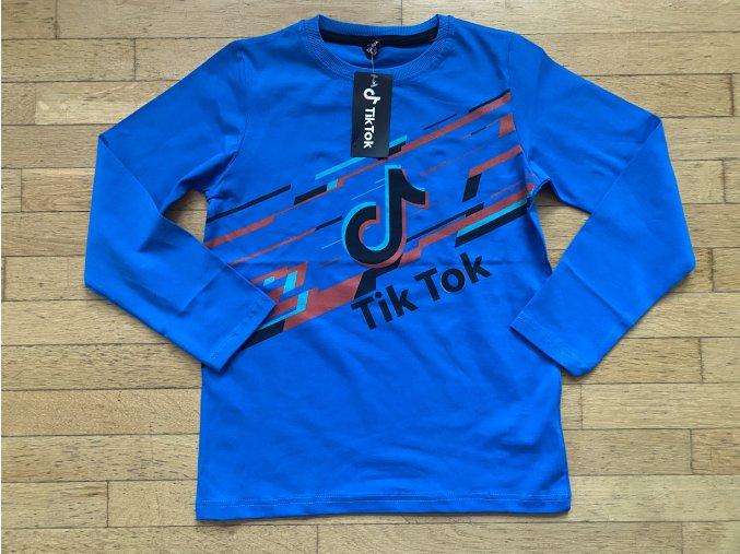 Tričko chlapecké dlouhý rukáv TIK TOK (modrá) TOMURCUK
