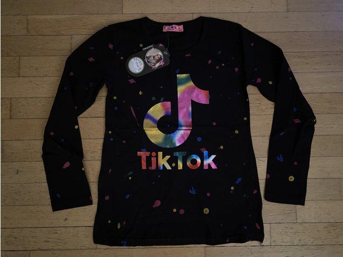 Tričko dívčí dlouhý rukáv TIK TOK (černé) TOMURCUK, VELIKOST 128-176