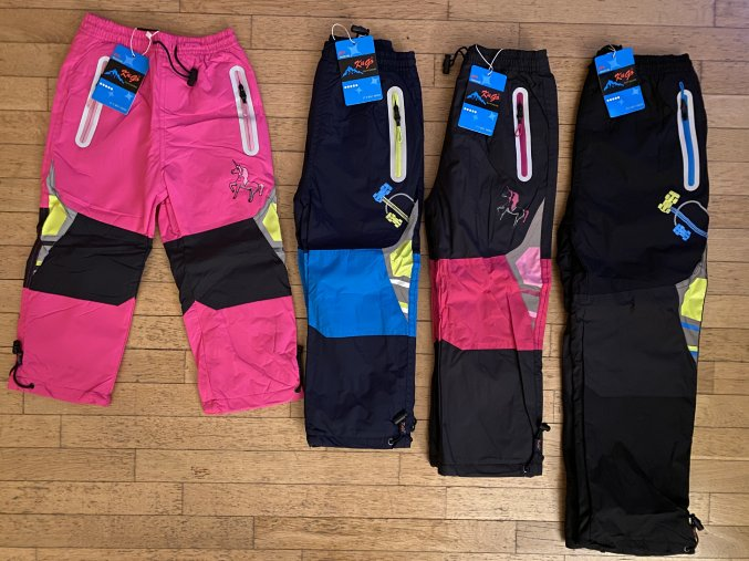 Kalhoty dětské šusťákové podšité flísem (4 barvy) KUGO, VELIKOST 98-128