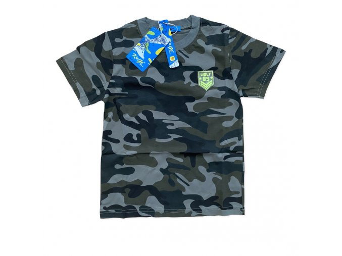 Tričko chlapecké  maskáčové krátký rukáv (3 barvy) KUGO,VELIKOST 116-146