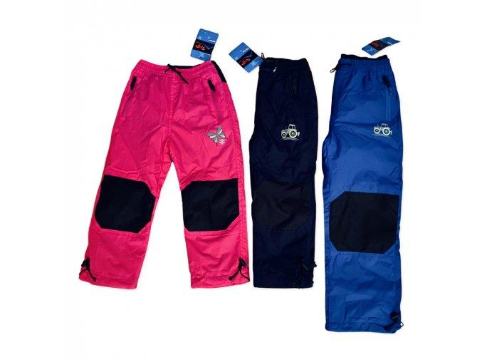 Kalhoty šusťákové dětské podšité flísem (3 barvy) KUGO, VELIKOST 98-128
