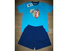 Pyžamo pánské letní (tyrkysové s tmavěmodrými kalhotami) COANDIN