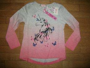 Tričko dívčí dlouhý rukáv (3 barvy) KUGO