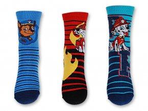 Ponožky chlapecké PAW PATROL (3 barvy) SETINO, VELIKOST 23-34