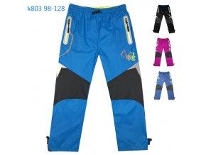 Kalhoty šusťákové dětské s bavlněnou podšívkou (4 barvy) KUGO,VELIKOST 98-128