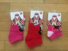 Ponožky dívčí kotníkové MINNIE MOUSE (3 barvy) SETINO