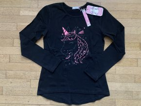 Tričko dívčí dlouhý rukáv  (3 barvy) KUGO, VELIKOST 134-164