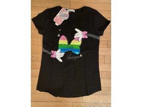 Tričko dívčí krátký rukáv (3 barvy) KUGO,VELIKOST 116-146