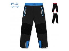 Kalhoty dětské softshellové podšité flísem (3 barvy) KUGO,VELIKOST 104-134