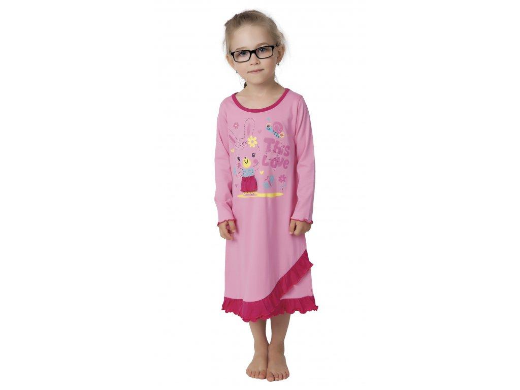 Dětská noční košile CALVI 17-517 - růžová