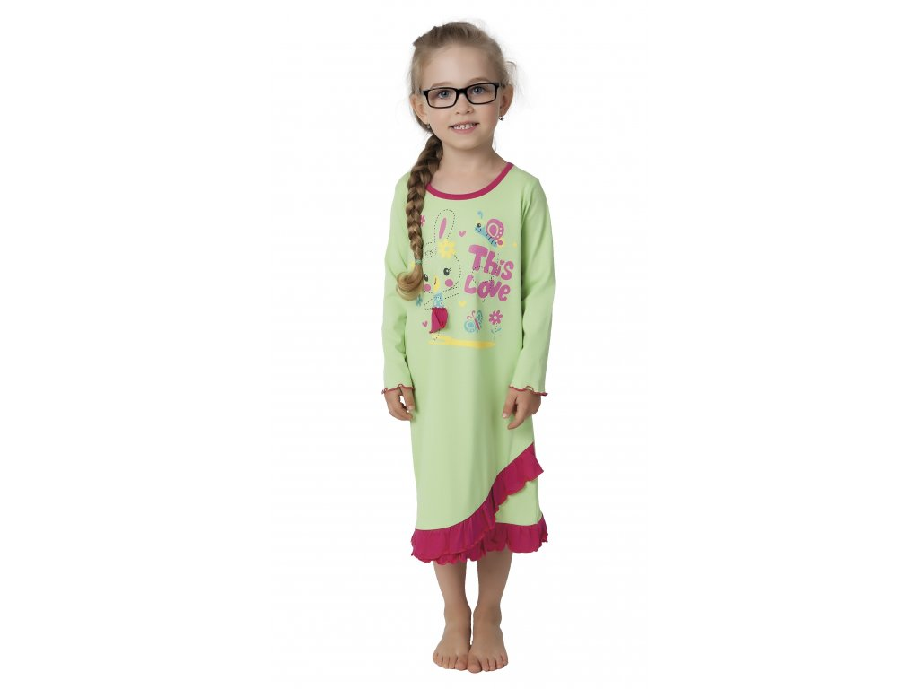 Dětská noční košile CALVI 17-517 - zelená